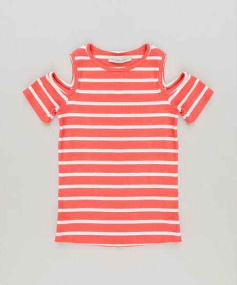 Blusa-Infantil-Listrada-Open-Shoulder-Manga-Curta-Decote-Redondo-Coral-9042323-Coral_1