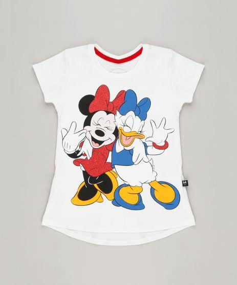 Blusa-Infantil-Minnie-e-Margarida-Manga-Curta-Decote-Redondo-em-Algodao---Sustentavel-Off-White-9230155-Off_White_1
