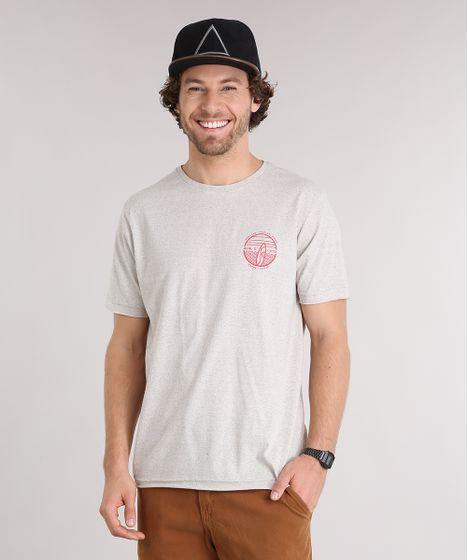 99f919fa34dfe Camiseta Masculina Prancha Manga Curta Gola Careca Corte a Fio kaki ...