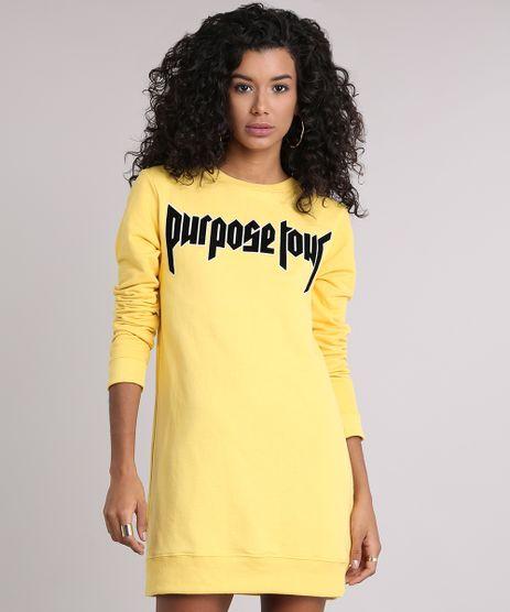 Blusao-Feminino-Justin-Bieber--Purpose-Tour--Longo-em-Moletom-Amarelo-9129186-Amarelo_1