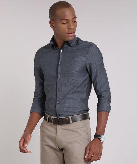 Camisa-Masculina-Slim-Texturizada-Manga-Longa-Chumbo-9050807-Chumbo_1