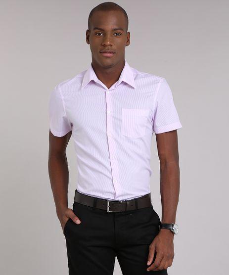 Camisa-Masculina-Comfort-Listrado-Manga-Curta-Rosa-Claro-9050782-Rosa_Claro_1