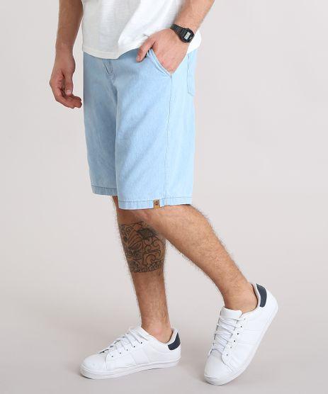 Bermuda-Jeans-Masculina-com-Cordao-e-Bolsos-Azul-Claro-9117593-Azul_Claro_1