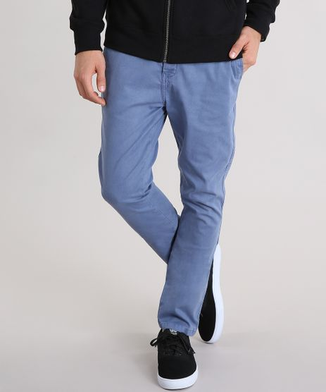 Calca-Masculina-Chino-Carrot-em-Algodao---Sustentavel-Azul-9108407-Azul_1