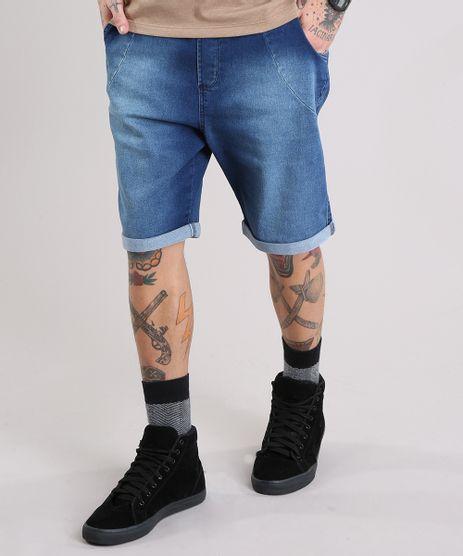 Bermuda-Jeans-Masculina-Reta-com-Cordao-Azul-Escuro-8766323-Azul_Escuro_1