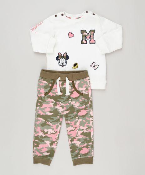 Conjunto-Infantil-de-Blusao-Minnie-com-Bordado-Off-White---Calca-Estampada-Camuflada-em-Moletom-Verde-Militar-8953686-Verde_Militar_1