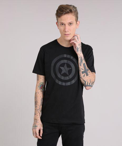 Camiseta-Masculina-Capitao-America-Manga-Curta-Gola-Careca-Preta-8527794-Preto_1