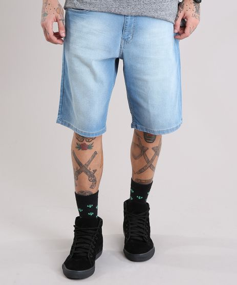 Bermuda-Jeans-Masculina-Reta-Azul-Claro-8757307-Azul_Claro_1