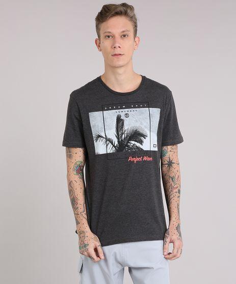 Camiseta-Masculina--Dream-Spot--Manga-Curta-Gola-Careca-Cinza-Mescla-Escuro-8735772-Cinza_Mescla_Escuro_1