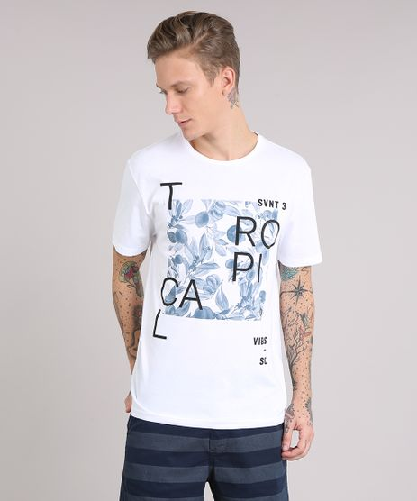 Camiseta-Masculina--Tropical-Vibes---Manga-Curta-Gola-Careca-Branca-9079781-Branco_1