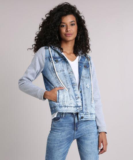 Jaqueta-Jeans-Feminina-com-Capuz-Removivel-em-Moletom-Azul-Claro-9116722-Azul_Claro_1