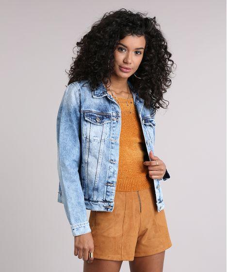 ee54ae9ae3 Jaqueta-Jeans-Feminina-com-Puidos-Azul-Claro-9112673- ...