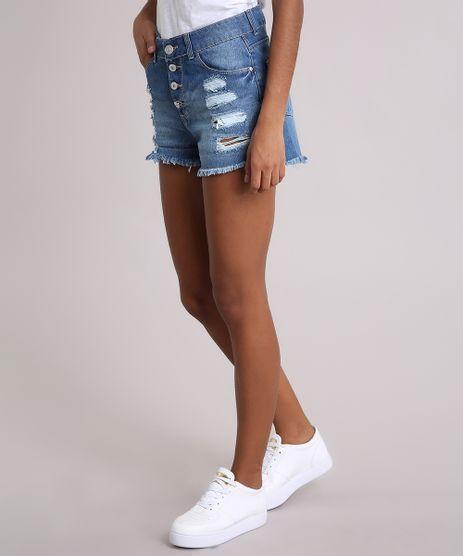 Short-Jeans-Feminino-Vintage-Destroyed-com-Puidos-Azul-Medio-9123054-Azul_Medio_1