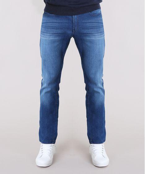 84057acdac Calca-Jeans-Masculina-Reta-Azul-Medio-9134511-Azul Medio 1 ...