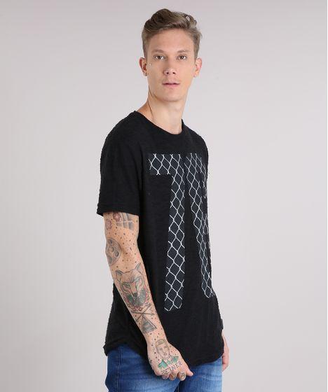 6ddaf2ff24 Camiseta Masculina Longa