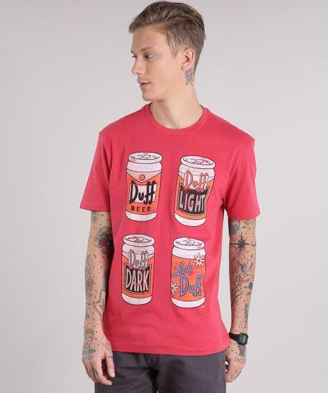 Camiseta-Masculina-Duff-Os-Simpsons-Manga-Curta-Gola-Careca-Vermelha-9154392-Vermelho_1