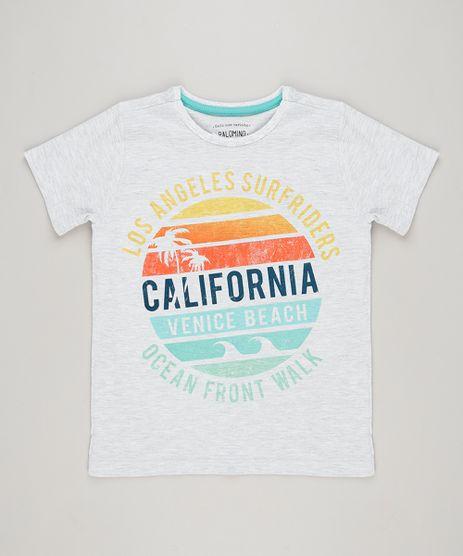Camiseta-Infantil--Los-Angeles-Surfriders--Manga-Curta-Gola-Careca--Cinza-Mescla-Claro-9227986-Cinza_Mescla_Claro_1