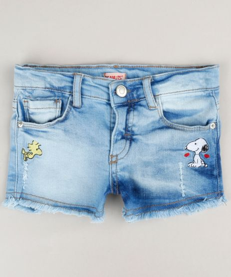 Short-Jeans-Infantil-com-Bordado-do-Snoopy-Azul-Claro-9183196-Azul_Claro_1