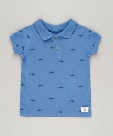 Polo-Infantil-Estampada-de-Tubaroes-Manga-Curta-Azul-9228566-Azul_1
