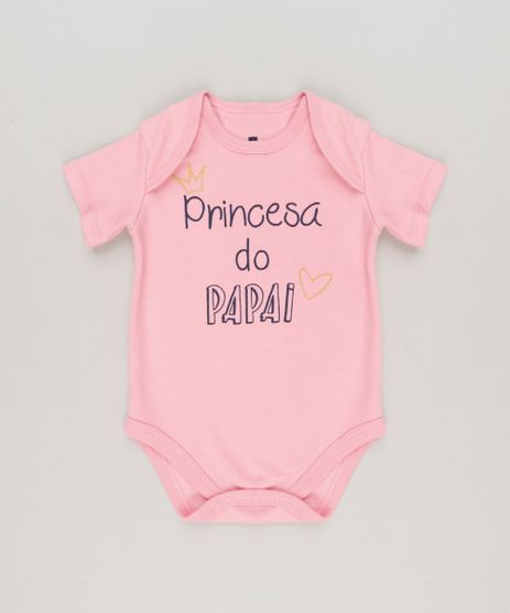 Body-Infantil--Princesa-do-Papai--Manga-Curta-Decote-Redondo-Rosa-9223027-Rosa_1