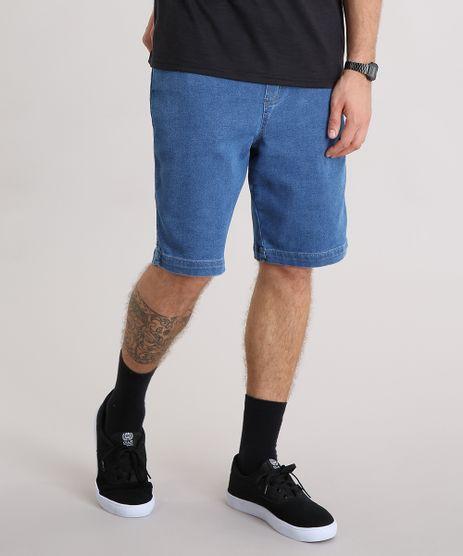 Bermuda-Jeans-Masculina-com-Cordao-e-Bolsos-Azul-Escuro-9140301-Azul_Escuro_1