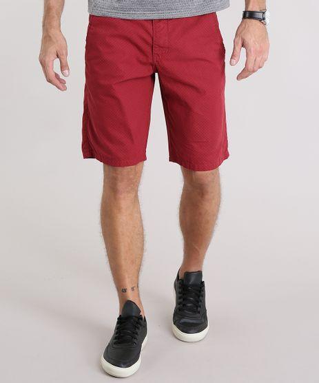 Bermuda-Masculina-Reta-Estampada-com-Bolsos-Vermelha-9116111-Vermelho_1