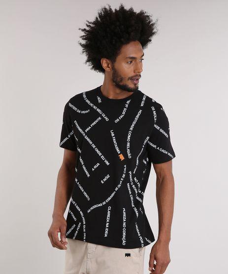 Camiseta-Masculina-LAB-Estapada-de-Frases-Manga-Curta-Gola-Careca-Preta-9170187-Preto_1