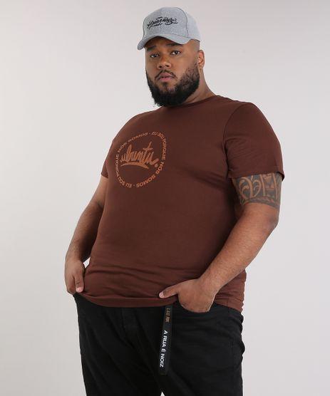 Camiseta-Masculina-LAB-Ubumtu-Manga-Curta-Gola-Careca-Marrom-9170181-Marrom_1