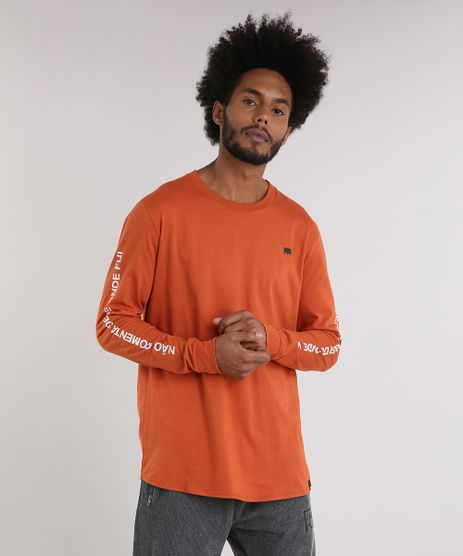 Camiseta-Masculina-LAB-Emicida-Manga-Longa-Gola-Careca-Laranja-Escuro-9170179-Laranja_Escuro_1