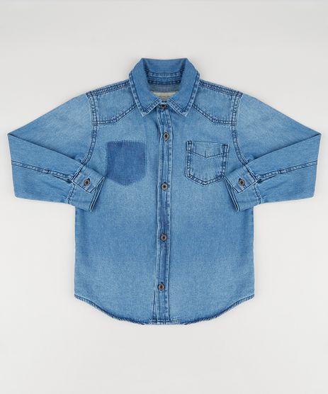 Camisa-Jeans-Infantil-Manga-Longa-com-Bolso-Azul-Escuro-9180388-Azul_Escuro_1