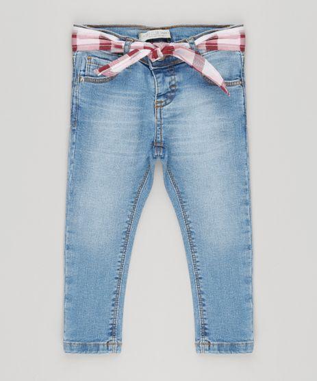 Calca-Jeans-Infantil-com-Bandana-Xadrez-Azul-Claro-9210003-Azul_Claro_1