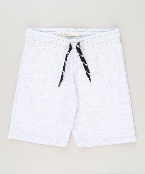 Bermuda-Infantil-em-Moletom-Cinza-Mescla-Claro-8615081-Cinza_Mescla_Claro_1