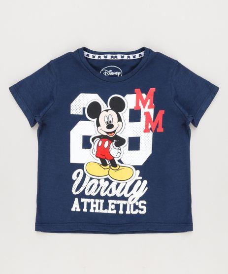 Camiseta-Infantil-Mickey-Manga-Curta-Gola-Careca-Azul-Marinho-8646963-Azul_Marinho_1