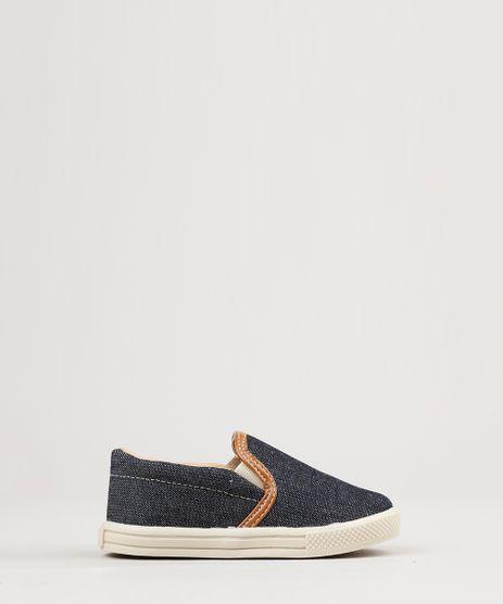 Tenis-Infantil-Slip-On-em-Jeans-Azul-Escuro-8048667-Azul_Escuro_1