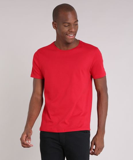 Camiseta-Masculina-Basica-Manga-Curta-Gola-Careca--Vermelha-8638979-Vermelho_1
