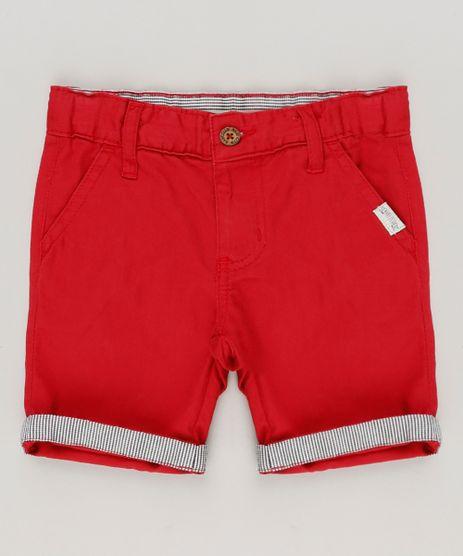 Bermuda-Infantil-Slim-em-Algodao---Sustentavel-Vermelha-8727153-Vermelho_1