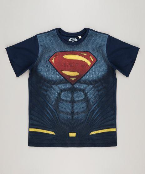 Camiseta-Infantil-Super-Homem-Manga-Curta-Gola-Careca-em-Algodao---Sustentavel-Azul-Marinho-8305784-Azul_Marinho_1