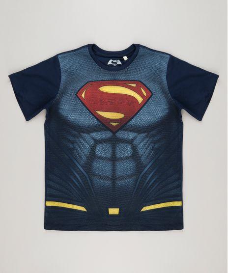 ead01df60 Camiseta-Infantil-Super-Homem-Manga-Curta-Gola-Careca-