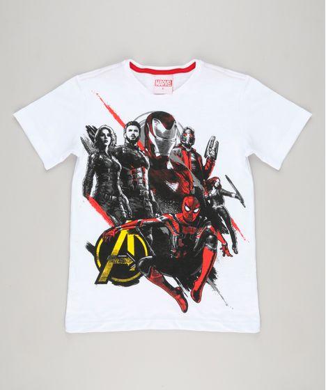 Camiseta Infantil Os Vingadores Guerra Infinita Manga Curta Gola ... fad54e820a144