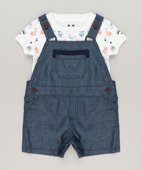Conjunto-Infantil-de-Body-Estampado-Manga-Curta-Off-White---Jardineira-Jeans-em-Algodao---Sustentavel-Azul-Escuro-8986212-Azul_Escuro_1