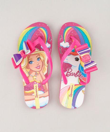 Chinelo-Infantil-Ipanema-Estampado-Barbie-e-Unicornio-com-Laco-Rosa-9232465-Rosa_1