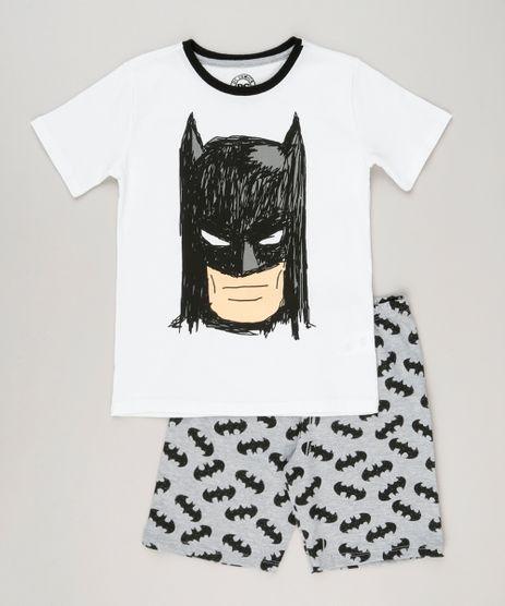 Pijama-Infantil-Batman-Manga-Curta-Off-White-9133193-Off_White_1