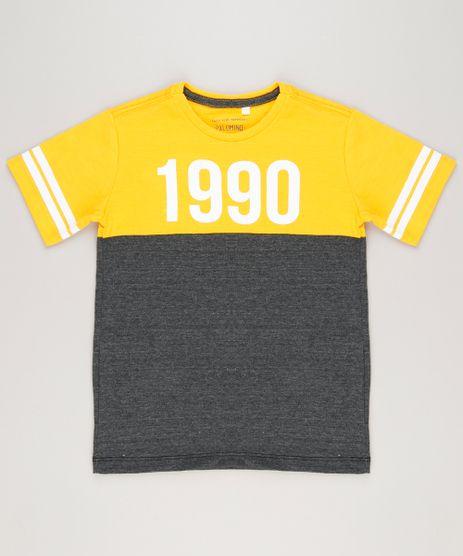 Camiseta-Infantil-com-Recorte-Manga-Curta-Gola-Careca-Amarela-9227220-Amarelo_1