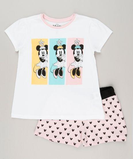 Pijama-Infantil-Minnie-Manga-Curta-em-Algodao---Sustentavel-Off-White-9132985-Off_White_1