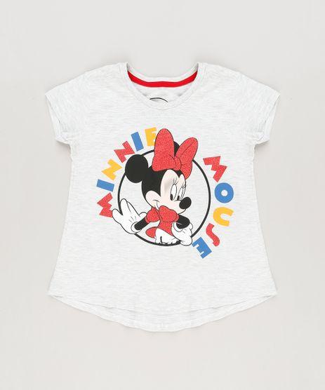 Blusa-Infantil-Minnie-com-Glitter-Manga-Curta-Decote-Redondo-Cinza-Mescla-Claro-9230150-Cinza_Mescla_Claro_1
