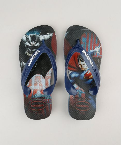 e0cd2e113b68d Chinelo Infantil Havaianas Super Homem e Batman Azul Marinho - cea