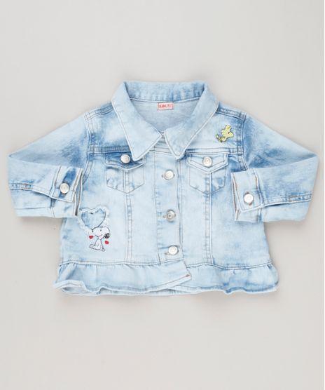 Jaqueta-Jeans-Infantil-com-Bordado-do-Snoopy-e-Babado-Manga-Longa-Azul-Claro-9183199-Azul_Claro_1