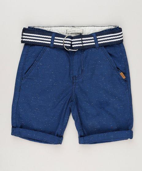 Bermuda-Infantil-Slim-com-Cinto-Azul-Marinho-9235672-Azul_Marinho_1