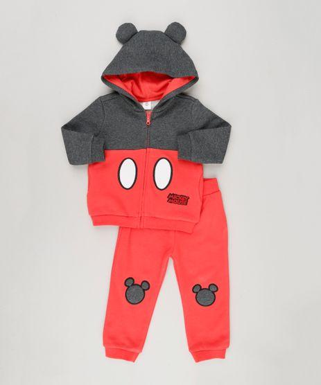 Conjunto-Infantil-de-Blusao-Mickey-Mouse-com-Orelhinhas---Calca-em-Moletom-Vermelho-8960237-Vermelho_1