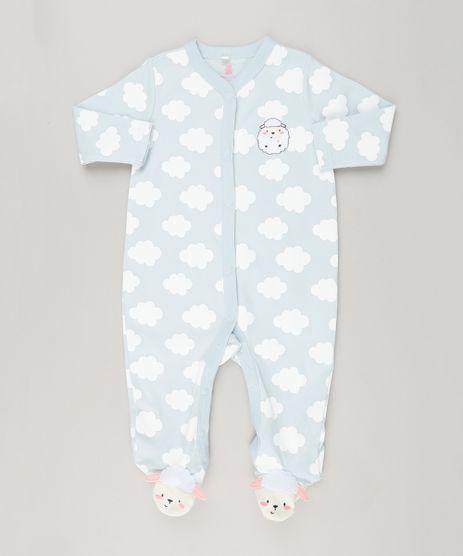 Macacao-Infantil-Ovelha-com-Estampa-de-Nuvem-Manga-Longa-em-Algodao---Sustentavel-Azul-Claro-8941224-Azul_Claro_1